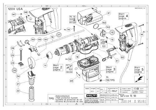 Hilti Te56 Medium Duty Electric