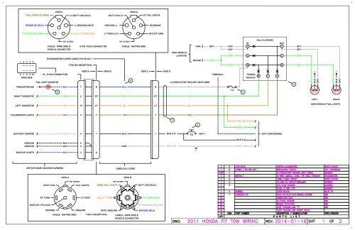 honda fit tow vehicle wiring diagram  klenger