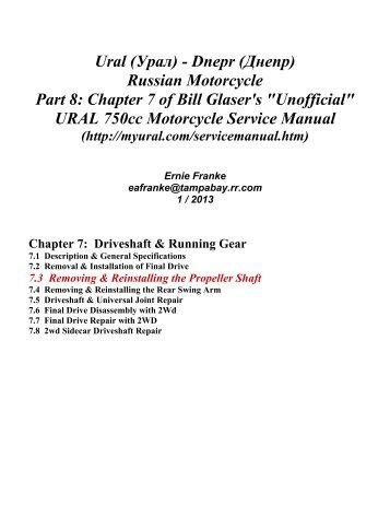 ural 750cc motorcycle service manual motorview co rh motorview co HP Owner Manuals Owner's Manual