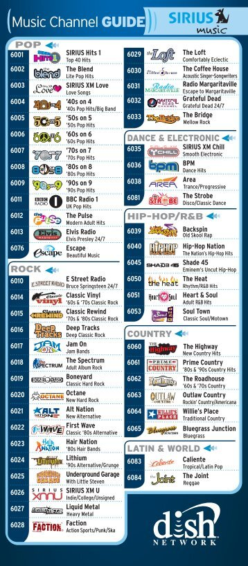channel lineup printable cable tv lineup big meadow campground