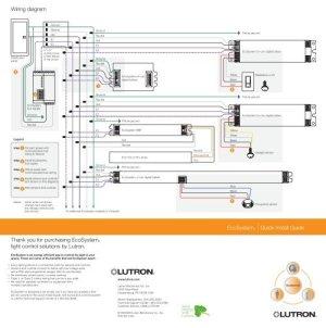 Lutron EcoSystem Wiring Diagram  Lutron Lighting