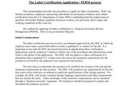 perm labor certification status » References on Resume   References ...