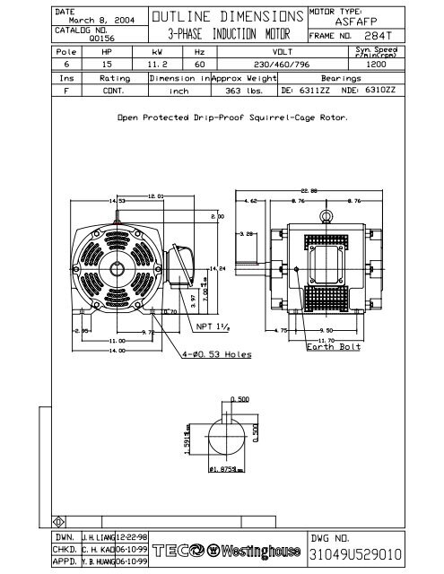 olq0156 model 1  tecowestinghouse motor company