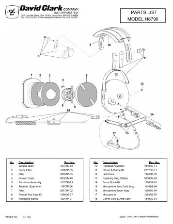 model h8790 parts list david clark company incorporated?resize=357%2C462&ssl=1 sigtronics spa 400 wiring diagram wiring diagram sigtronics spa 400 wiring diagram at bakdesigns.co