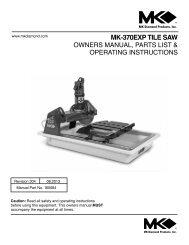 mk 170 tile saw mk diamond products
