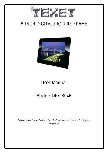 Shintaro Digital Photo Frame Manual | Frameswalls.org