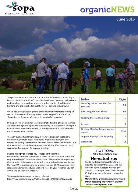 Organicnews Scottish Organic Producers Association