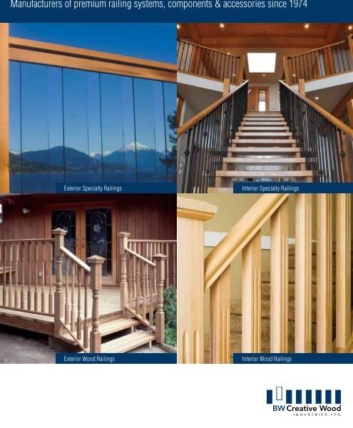 Exterior Wood Railings Bw Creative Wood Industries Ltd | Exterior Wood Stair Railing | Stone | Timber | Second Floor | Landing | Step