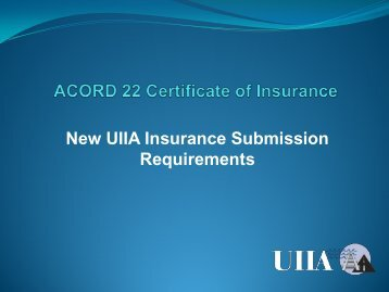 evidence of commercial property insurance   ACORD Forms