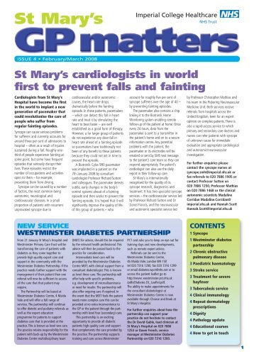 10 free Magazines from IMPERIAL.NHS.UK