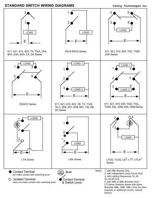 switch wiring diagrams  carlingtech