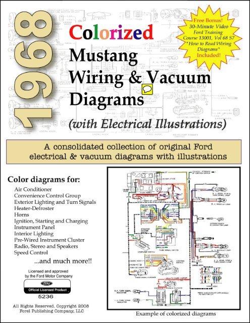 1968 mustang wiring and vacuum diagrams  forelpublishing