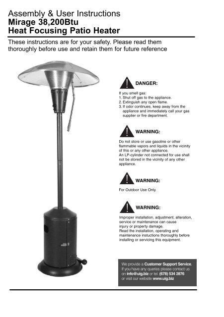 38200btu Heat Focusing Patio Heater