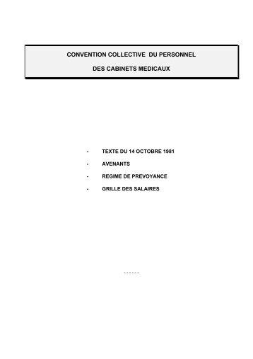 convention collective nationale du personnel des cabinets medicaux du 14