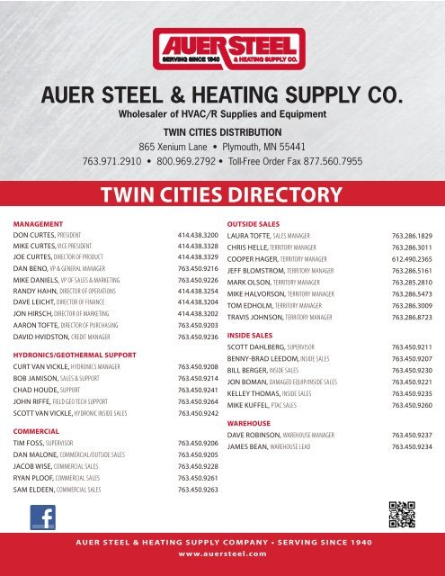 auer steel heating supply co
