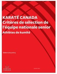 2011 North American Karate Cup - INVITATION - By Karate Canada