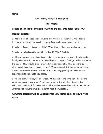 How To Write An Essay Proposal Example Anne Frank Essay Topics Infoletter Co Politics And The English Language Essay also Secondary School English Essay Anne Frank Play Essay Topics  Mistyhamel Business Communication Essay