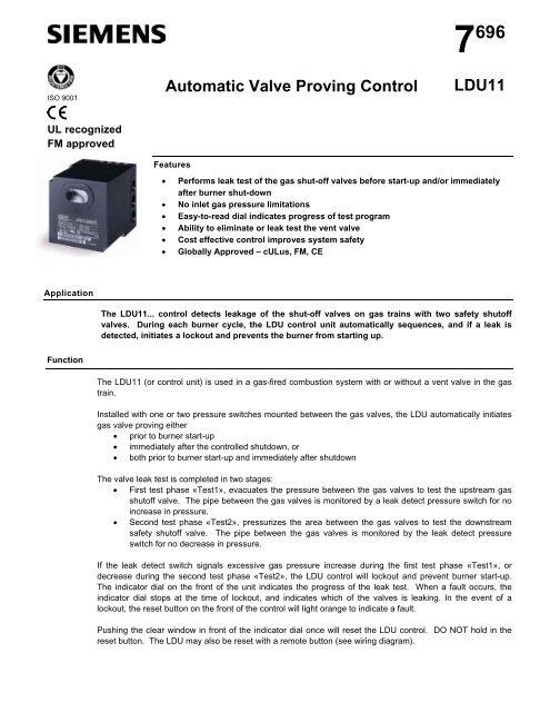 automatic valve proving control ldu11  romstal