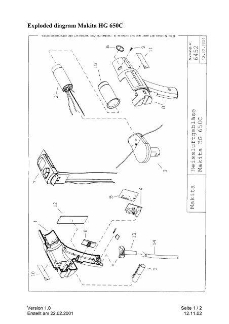 makita  hg650k  electric heat gun