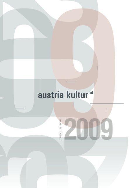 auslandskultur 2009 ta tigkeits beri