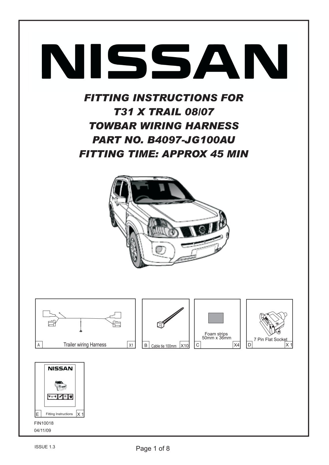 fitting instructions for nissan t31 x trail towbar wiring harness nissan x trail towbar wiring diagram nissan wiring diagram gallery nissan x trail tow bar wiring diagram at creativeand.co