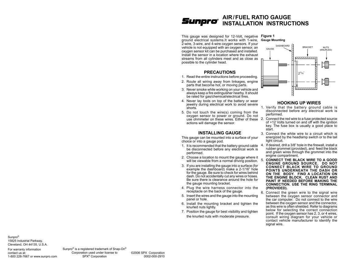 air fuel ratio gauge installation instructions equus fuel gauge wiring diagram dolgular com  at fashall.co