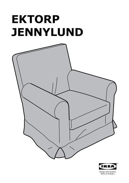 Ikea Ektorp Jennylund Housse De Fauteuil 20168767 Plans