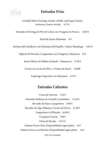 Ensaladas Frias Mexicanas