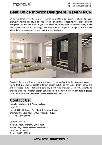 top interior designing firms in delhi ncr top corporate office