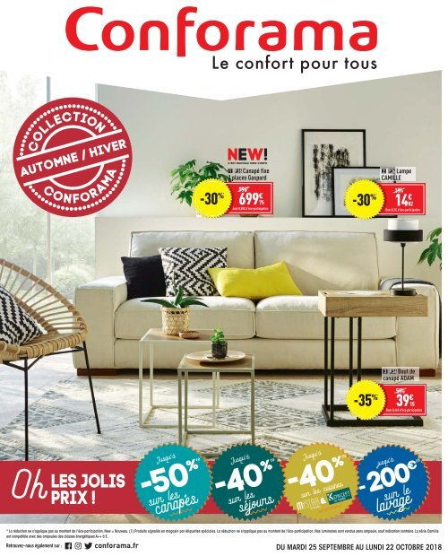 conforama catalogue 25 septembre 22