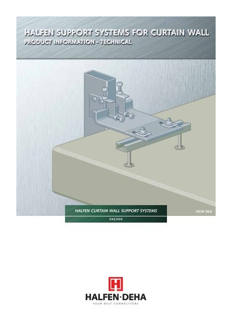 halfen support systems for curtain wall