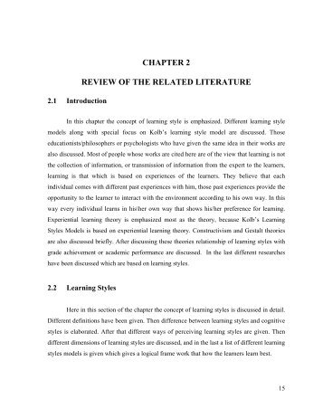 i need help with my literature review