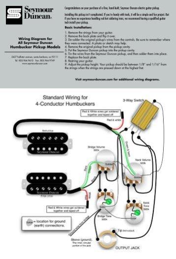 Les Paul Wiring Schematic Seymour Duncan - Wiring Diagram