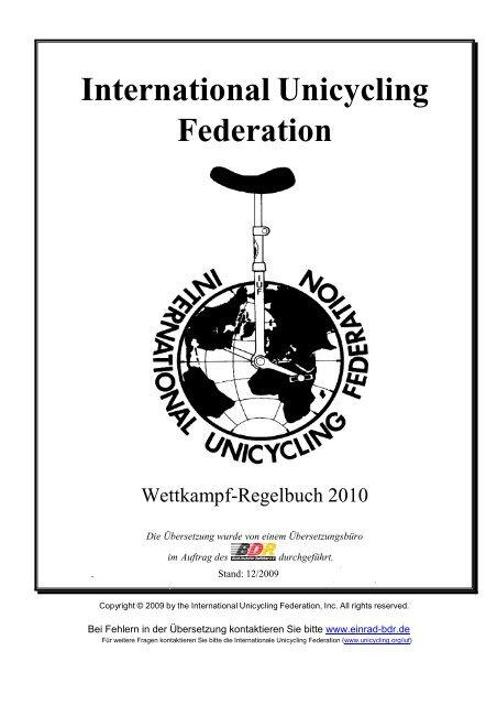 Hops Genommen Hand Zeichen - International Unicycling Federation