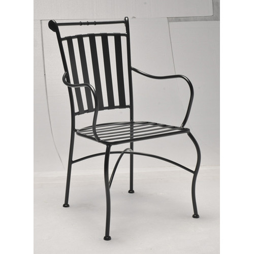 ollie wrought iron carver chair