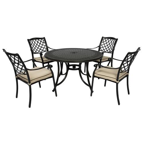 fiji metal outdoor dining set