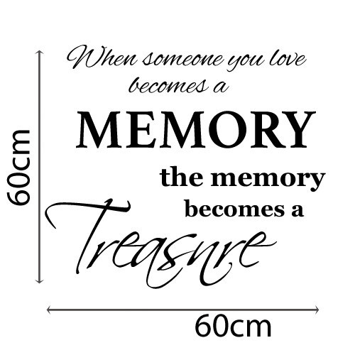 Download Memory Quote Removable Wall Decal | Temple & Webster