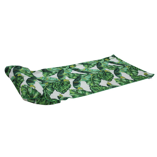 leaf beach towel with inflatable pillow