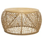 Quayside Trading Natural Byron Rattan Coffee Table Reviews Temple Webster