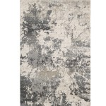 Cream Grey Matisse Power Loomed Modern Rug