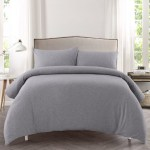 Dreamaker Grey Jersey Cotton Quilt Cover Set Reviews Temple Webster