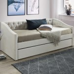 Vic Furniture Oat White Allegra Sofa Daybed With Trundle Reviews Temple Webster