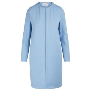 Collarless cotton coat