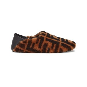 Brown sheepskin slippers