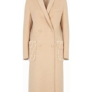 Beige double-sided wool coat
