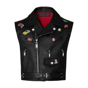 Calfskin Vest With Pins