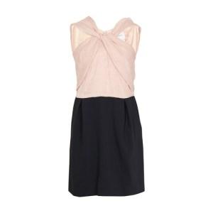 Double fabric dress