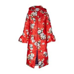 Floral winter coat