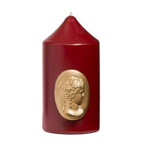 Burgundy Pillar Candle 6cm x 10cm