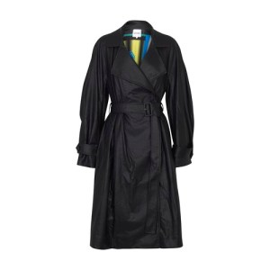 Eco leather trench